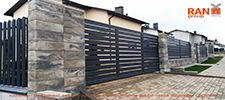 RANeX_забор-центр_каменный забор + забор ранчо + штакетник + ворота-ранчо откатные + калитка-ранчо + автоматика откатных ворот + видеодомофония_2