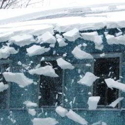 RANeX_отсутствие снегозадержания_сход снега с крыши
