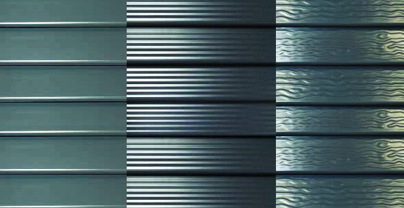 горизонтальный забор жалюзи фактуры поверхности ламелей