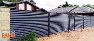 горизонтальный забор жалюзи